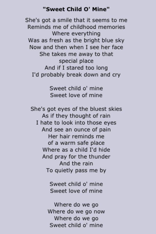 Sweet and slow lyrics