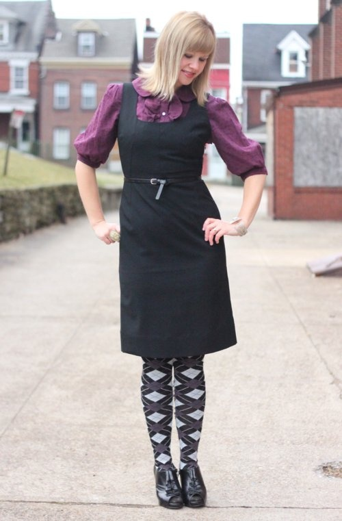 layering idea that i've never thought of (and potential use for my 4 almost identical black dresses)!