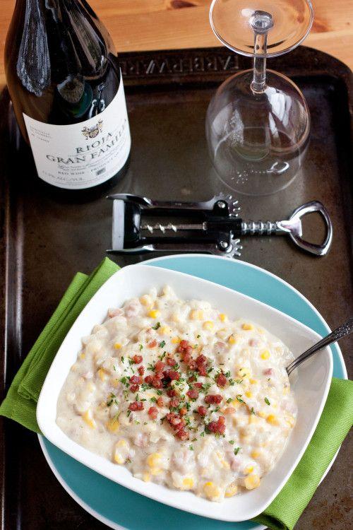 Crock-Pot Corn Chowder with Parmesan Rind and Pancetta | Recipe
