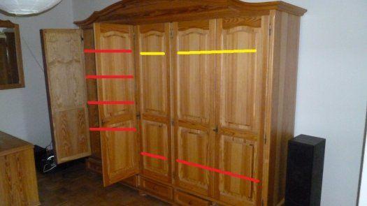 Velká šatní skrín-dřevo masiv - Jablonec nad Nisou, prodám