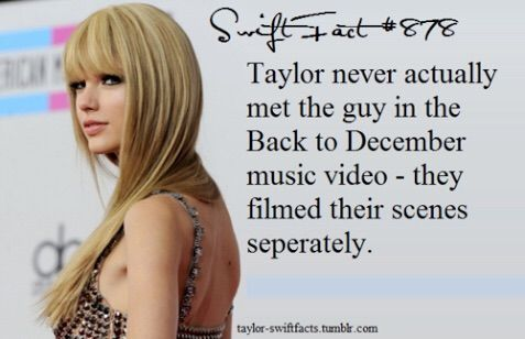 Image via We Heart It https://weheartit.com/entry/160350940 #fact #music #TaylorSwift #video #backtodecember