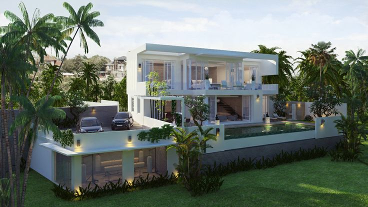 Villa white a vendre sur les colines du bukit a BALI ! Option avec salle de sports