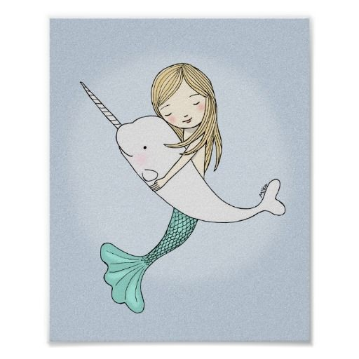 Sweet mermaid holding narwhal - great wall decor for nursery, kids room, or beach house. From silly jokes to serious romantic statements, MiKa Art Zazzle shop has something for everyone. Canadiana, Japanese gifts, jewelry, cases for electronic devices, fun buttons, mug cups, ornaments, cards and posters….. Please take some time and look around. You may even find something you didn't know you wanted! I'm curious about many things and am constantly looking for something new to explore and ...