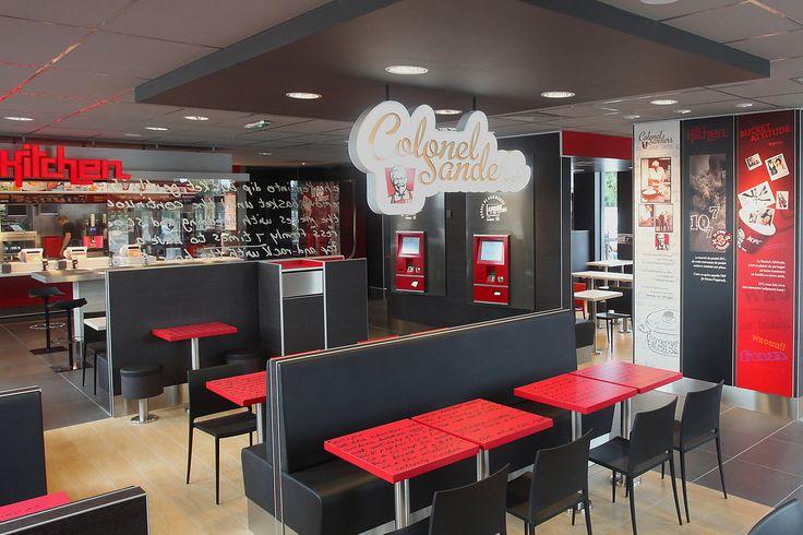 KFC | Mobilier sur mesure, restauration rapide | Groupe Lindera