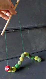 Caterpillar puppet