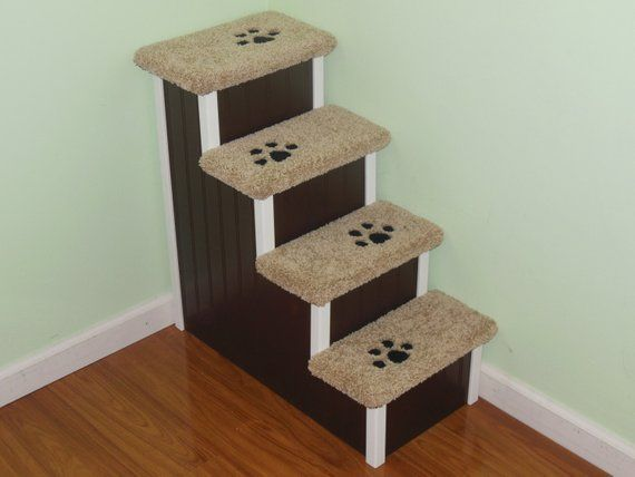 Custom Wood Dog Stairs Great For Small Dogs 5 30 Lbs 24 H X 14 W X 24 D Dog Step For High Beds Made In Usa Hampton Bay Pet Steps