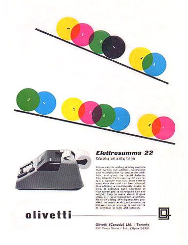 Olivetti old design. This is the type of design that gave me the inspiration to pursue art as a profession.