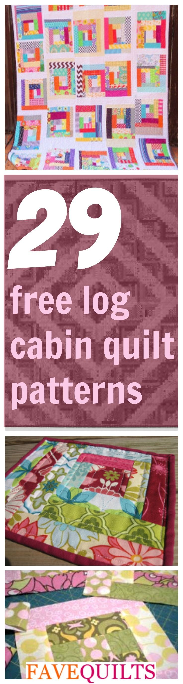 37 Free Log Cabin Quilt Patterns | FaveQuilts.com