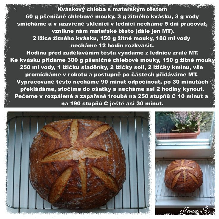 Kváskový chleba s mateřským těstem
