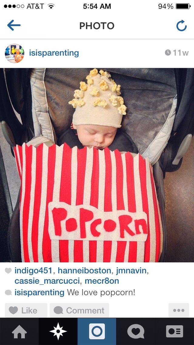 Stroller-friendly costume - baby as popcorn!