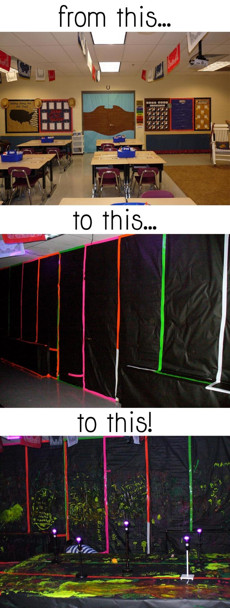 Transform Your Classroom to a Black Light Room!