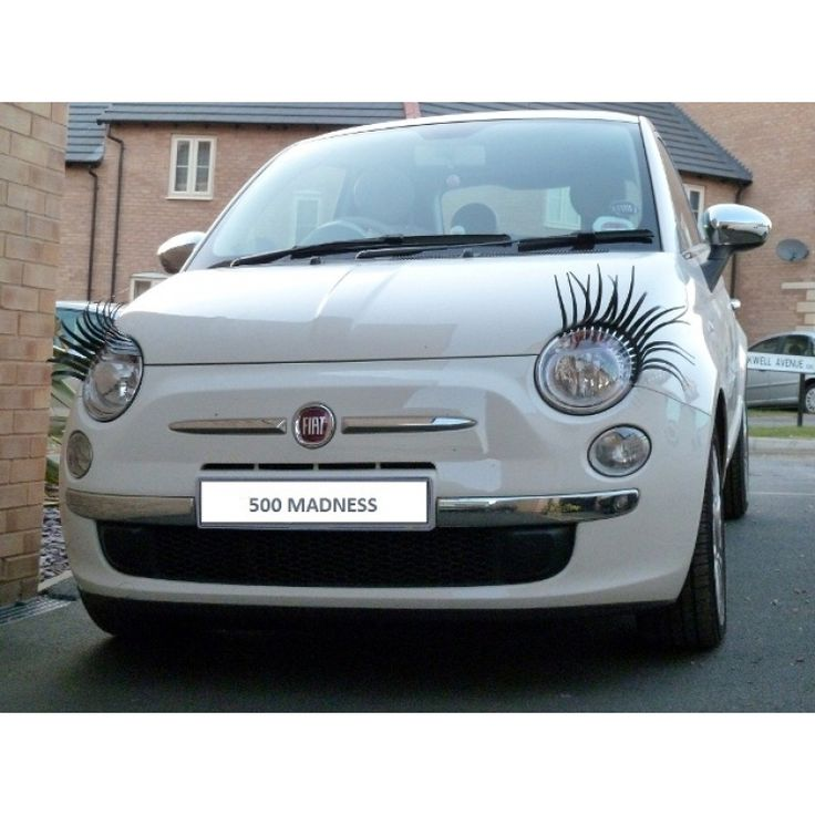 FIAT 500 Eyelashes (Black) w/ Crystal Eyeliners - FIAT 500 Parts and Accessories