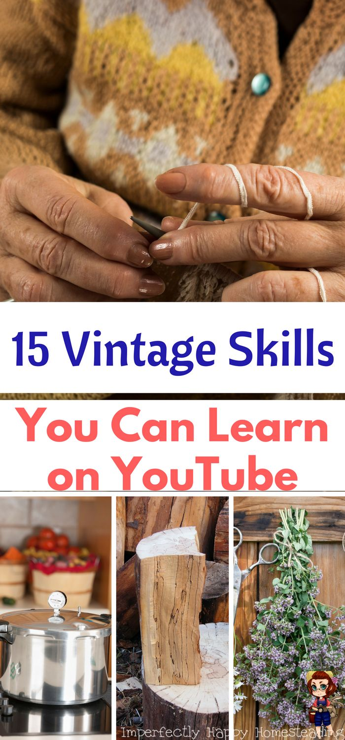 492 best do it yourself images on pinterest outdoor projects 15 vintage skills that can be learned on youtube solutioingenieria Images