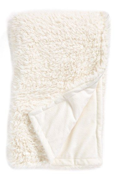 Nordstrom at Home Faux Fur Throw available at #Nordstrom