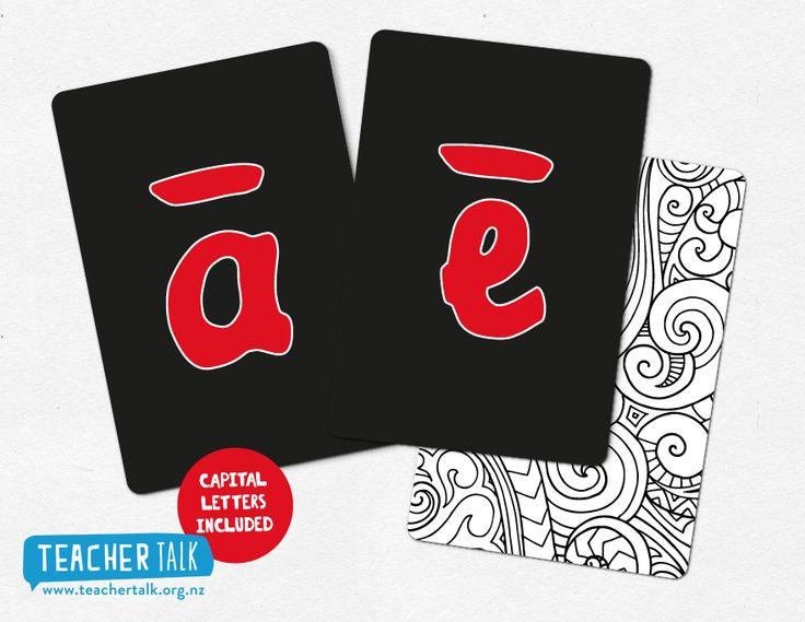 Te Reo Maori Alphabet Cards