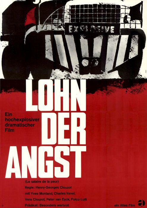 Karl Oskar Blase, poster artwork Lohn der Angst, Le salaire de la peur, 1962