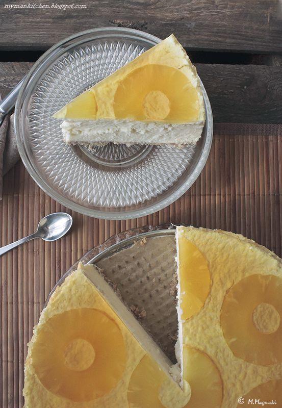 My man's kitchen...: Budyniowy sernik ananasowo-kokosowy