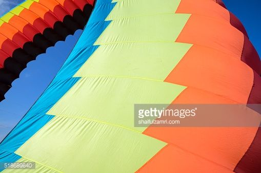 Stock Photo : A modern and big kite festival during hot and windy season in Terengganu, Malaysia.