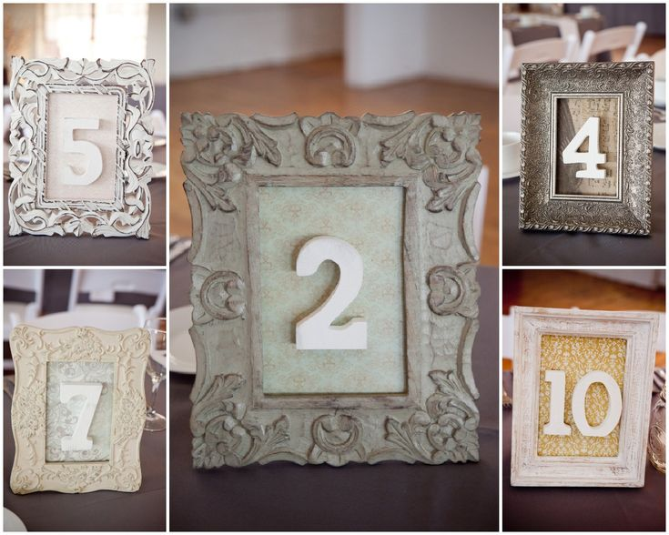 Table numbers, if using.  Or have pictures of couple. Modern Vintage Wedding - Rustic Wedding Chic