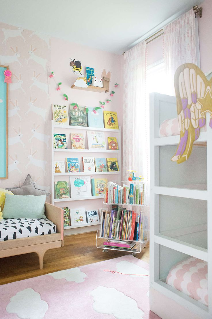 Bunk beds for girls room - A Shared Bedroom With Bunk Beds Shared Girls Roomsshared