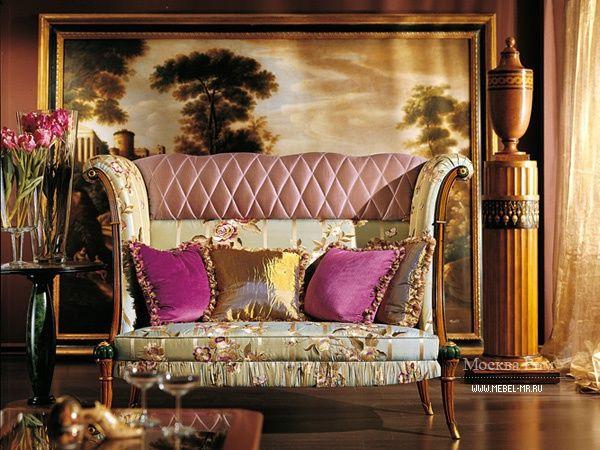 Glamorous armchair by Busnelli Adamo S.r.l., Italy. Lilac colour. Кресло, Busnelli Adamo S.r.l.  #designinterior #interior #furniture #mebelmr