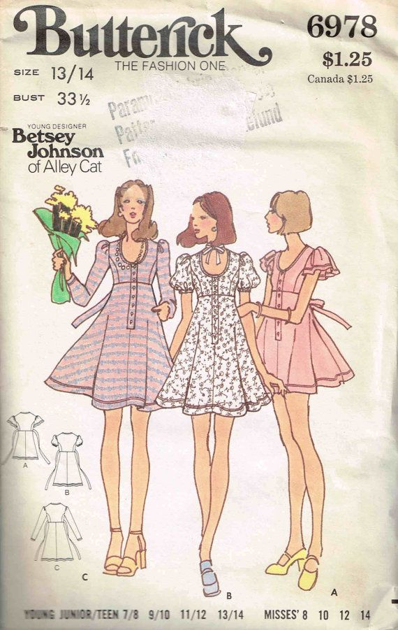 55 best Betsy Johnson images on Pinterest | Vintage sewing patterns ...