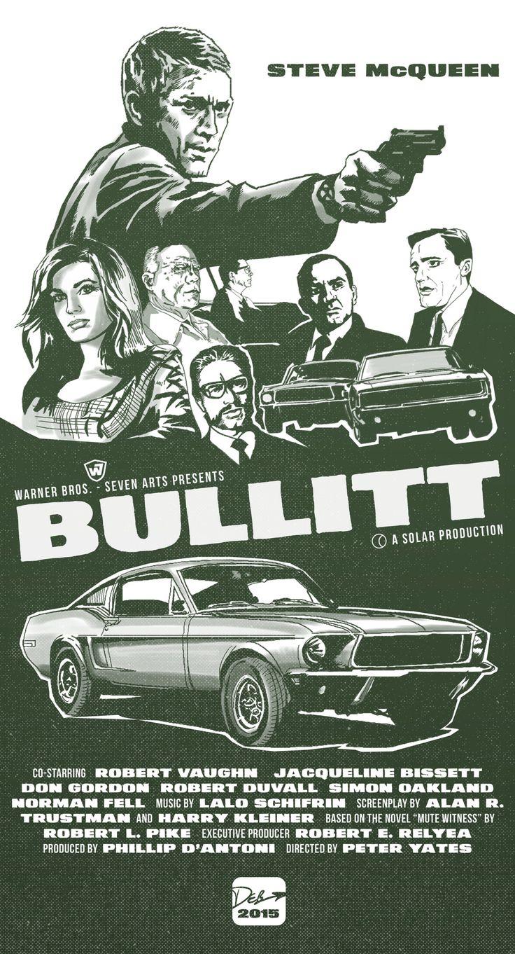 Home gt steve mcqueen porsche paintings - Bullitt Fan Art Poster What If I Designed The Poster For The Classic Steve Mcqueen