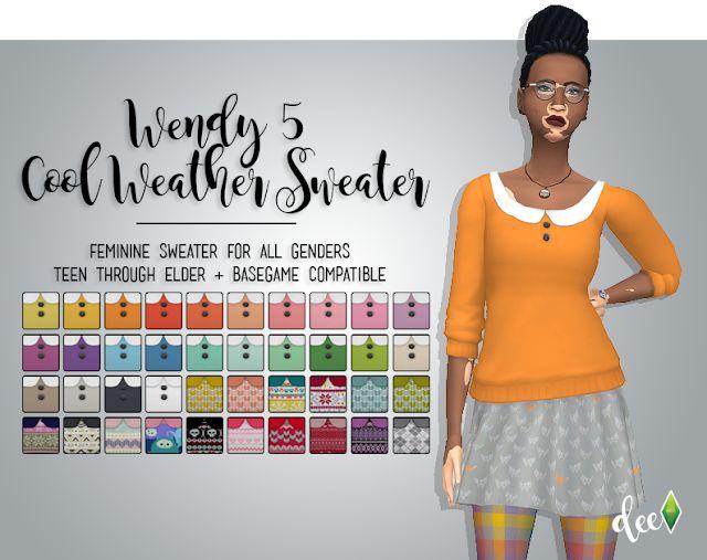 Creep Tee at Deetron Sims » Sims 4 Updates