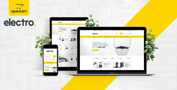 Electro is a robust and flexible OpenCart theme to help you make the most out of using OpenCart to...