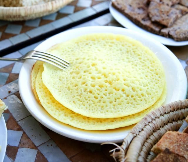 MoroccanFood.About.com: Beghrir Recipe, Crepe-Like Moroccan Semolina Pancakes - Beghrir are cooked only on one side. They're easy to make, but in order for the bubbles to form properly, the batter must be the right consistency.