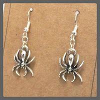 Spider Earrings, Halloween Earrings, Spider Jewellery, Halloween Jewellery, Spider Jewelry, Spiderman, Halloween Costume Jewelry