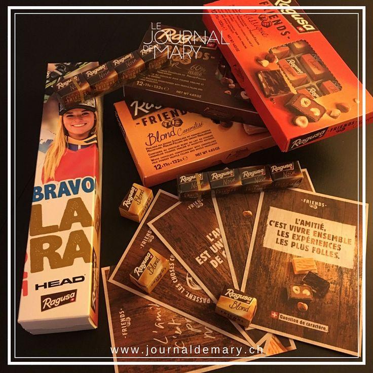 """Yummy, les chocolats Ragusa à partager entre amis avec les nouveaux emballages """"friends""""! www.ragusa.ch"""