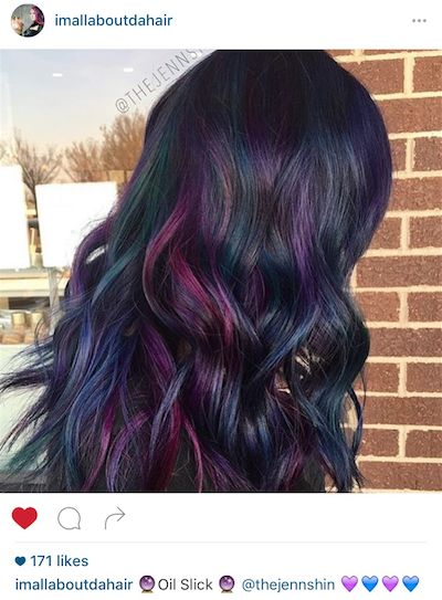I love this oil slick hair color