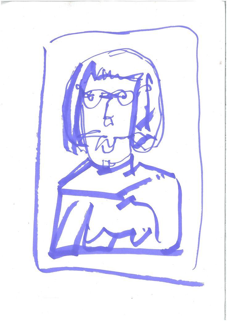 glassesblue illustration by ugnebalc