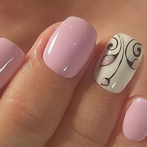 Pink / White nails