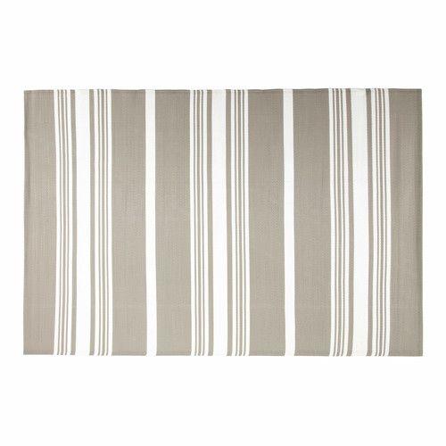 outdoor teppich aus polypropylen beige 180 x 270 cm transat seawashed textile outdoor. Black Bedroom Furniture Sets. Home Design Ideas