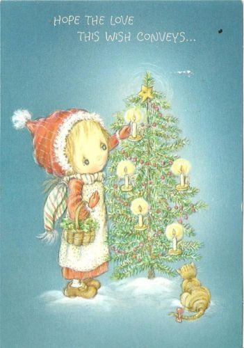 Vintage Hallmark Christmas Card, Betsey Clark