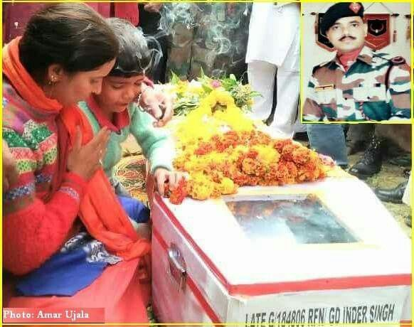 Martyr Inder Singh cremated with full state honours at Pandoh, in #Mandi district on Wednesday. He was one of the two jawan's of the Assam Rifles, who were killed when an improvised explosive device exploded at #Manipur's Chandel district on November 13. Other six were injured.   His wife and mother mourned as his seven-year-old son bid performed last rights.   #Martyr #Himachal #Violence