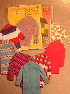 Barbie, PJ, Stacie, Christie & Julia - Sharp Shift Paks (Teen Fashions For) #