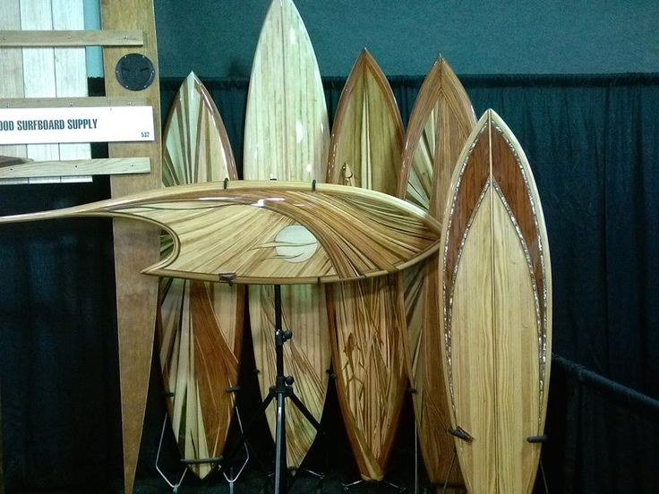 Del Mar Surf Expo featuring Tucker Surf Supply (TSS) hollow wood surfboard kits built by master craftsman Mike Rumsey frames designed by TSS Brad Tucker www.woodsurfboardsupply.com