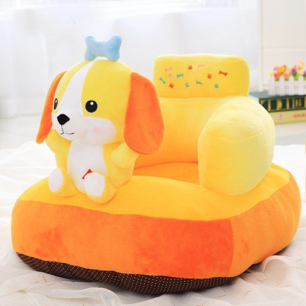 Baby Sofa Seat Cartoon Plush Seat Soft Sofa Removable Sofa Chair Washable Baby Support Seat Plush Toys Cushion for Toddlers Children Kids Infant Yellow Chick