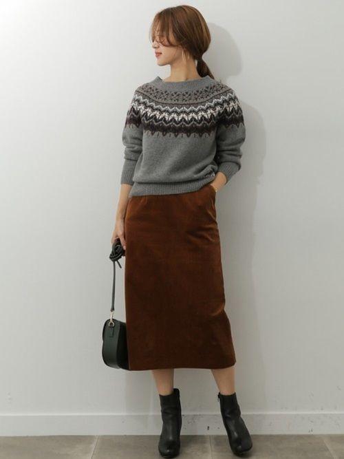 URBAN RESEARCH DOORSスタッフのニット・セーターを使ったレディースファッションコーディネート | NO:24176