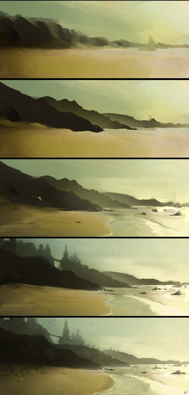 Ocean Fort Step by Step by AaronGriffinArt on deviantART