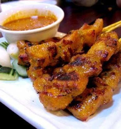 Recipe for Thai Chicken Satay - This chicken is so very flavorful and tender, so tender it just melts in your mouth and the balance of flavors is so awesome.. you'll want to share!