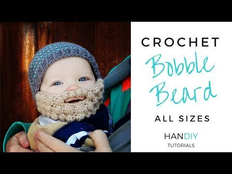 Easy Crochet Beard Tutorial (Free Bobble Beard Pattern All Sizes by Ashlee Marie) - YouTube