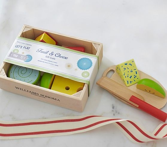 Williams Sonoma Toy Food Crate Cheese And Fruit Crates