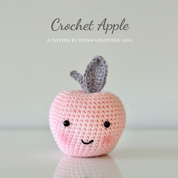 Use your crochet skills to make an utterly adorable apple.