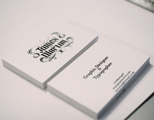 Self Branding: Hand drawn type. by James Worton, via BehanceDesign Inspiration, Cards Collection, Business Cards, Simple Business, Prints Design, Hands Drawn Types, Cards Prints, Fresh Business, 15 Fresh