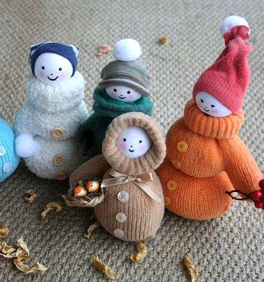 ❤ Szeretnivaló fázós eszkimók (babák) kesztyűkből ❤Mindy -  kreatív ötletek és dekorációk minden napra