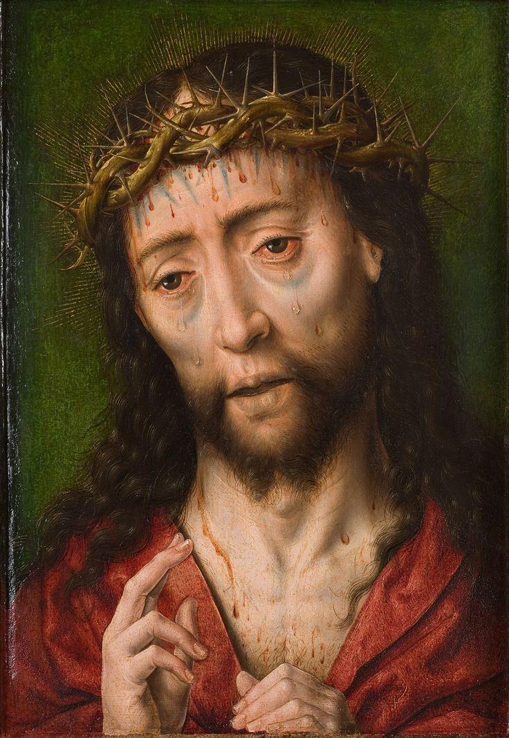 Albrecht Bouts – Christus met de doornenkroon, Eerste helft 16de eeuw, olieverf op paneel | Rijksmuseum Twenthe